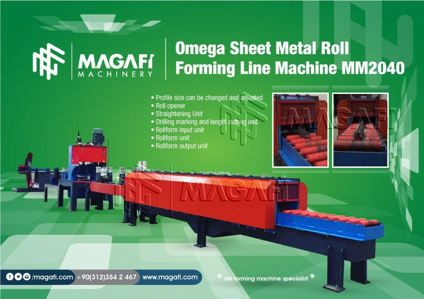 Omega-Sheet-Metal-Roll-Forming-Line-Machine