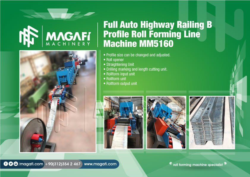 Full-Auto-Highway-Railing-B-Profile-Roll-Forming-Line-Machine